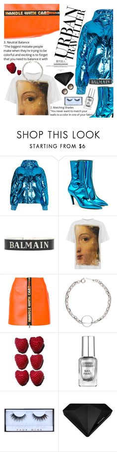 """Untitled #2953"" by anarita11 ❤ liked on Polyvore featuring Ienki Ienki, Balenciaga, Balmain, Golden Goose, Heron Preston, Sephora Collection and Gucci"