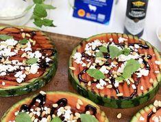Grillad melonpizza med fetaost | Recept - Zeta Halloumi, Avocado Egg, Grilling, Eggs, Breakfast, Morning Coffee, Crickets, Egg, Egg As Food