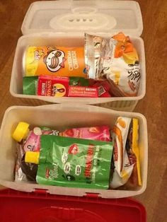 Snack packs for the road