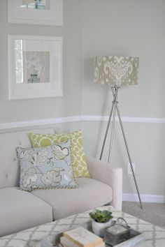 Wall Paint - Sedate Gray, Sherwin Williams Library Reveal!  | Not so Newlywed McGees