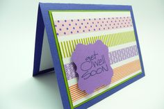 washi tape card.  Judi Carpenter will use all SU! products to make a similar card.