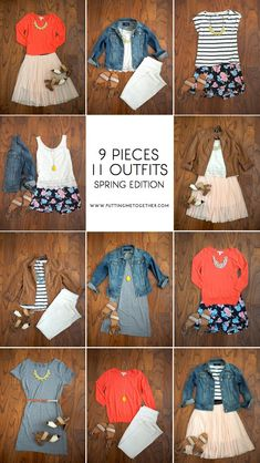 9 Pieces, 11 Outfits - Spring Packing
