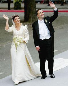 Norwegian Princess Martha-Louise marries Ari Behn in May 2002.