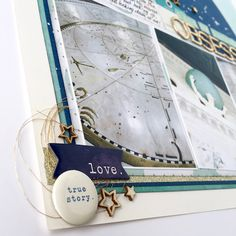 weekly challenge: scrap 3 photos on one page // layout by Lisa Hausman