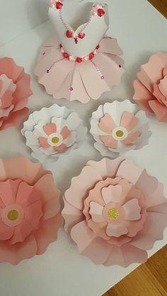 Telón de fondo de flor de papel para niños habitación de