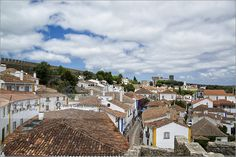 View over Obidos, Portugal