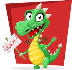 Free Image on Pixabay - Dragon, Green, Hola, Sign, Spanish Spanish Words, How To Speak Spanish, Spanish Language, Addition Of Fractions, Adding Fractions, Green Dragon, Chinese Dragon, Educational Games, Fractions
