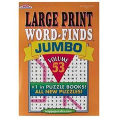 Bazic KAPPA Jumbo Large Print Word Finds Puzzle Book, Case Pack of 48
