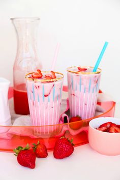 Save this colorful DIY recipe to make a Copycat Starbucks Pink Drink.