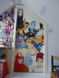 Pokemon silhouette and david on pinterest for Anime bedroom ideas