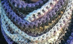 crochet infinity scarf free pattern Like the idea of using different yarns.
