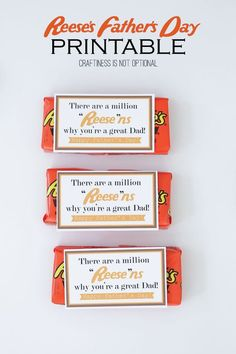 reese's fathers day FREE printable (craftiness is not optional) Reeses Vatertag KOSTENLOS bedruckbar: Diy Father's Day Gifts Easy, Father's Day Diy, Diy Gifts, Fathers Day Crafts, Happy Fathers Day, Fathers Day Ideas, First Fathers Day, Kid Crafts, Craft Projects