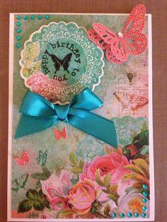 Kaisercraft secret admirer Secret Admirer, Birthday Cards For Women, Butterfly Cards, I Card, Handmade Cards, Cardmaking, Embellishments, Butterflies, Shabby