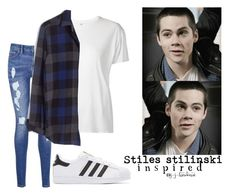 """Fem! Stiles Stilinski ""Teen Wolf"" (inspired outfit)"" by j-j-fandoms ❤ liked on Polyvore featuring Tommy Hilfiger, R13, Madewell and adidas Originals"