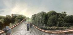 JBMC propose tube-shaped bridge for meadows salford - designboom | architecture