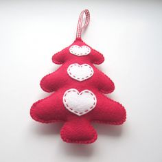 Red Folk Style Christmas Tree Decoration