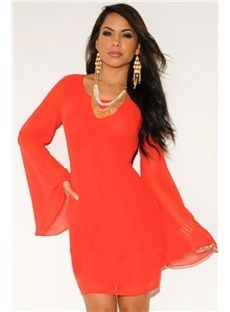 Red Club Zipper Back Red Mesh Accent Dress