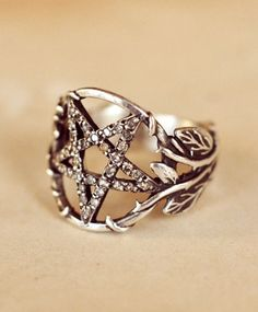 Pentagram Ring w/ Diamonds