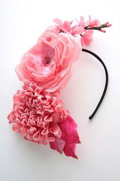 Twigs and Honey Millinery flowers on headband