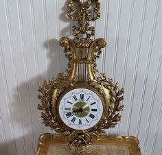 SOLD! Vintage Burwood HOMCO French Louis XV Style Gold CHIC New Haven Wall Clock