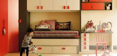 Trendy retro children's room Child bedroom design ideas. Bedroom decor for a girls bedroom. #retrobedroom