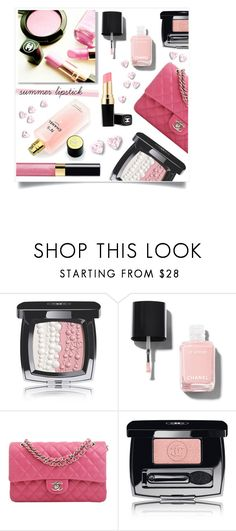 """Chanel Pink Lipstick"" by captainsilly ❤ liked on Polyvore featuring beauty and Chanel"