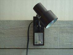 Vintage Brown Headboard Lamp Retro Bedroom Reading By Retroamyo