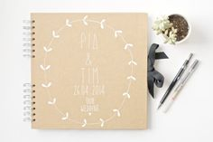 Wedding Photo Album / Wedding Guest Book - Custom hand illustrated for you with 100 pages to fill with your cherished wedding day memories