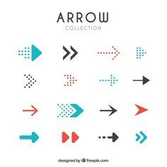 Set of modern arrows Free Vector Web Design, Graph Design, Blog Design, Layout Design, Logos, Typography Logo, Arrow Signage, Inspiration Logo Design, Arrow Logo