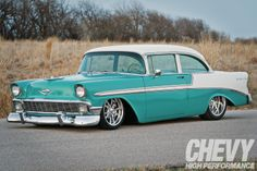 1956 Chevy Bel Air - Cool Baby Blue - Chevy High Performance Magazine