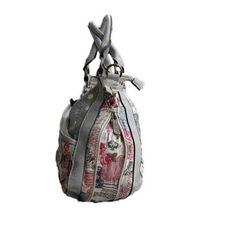 Cotton Road Handbag with Lace, Polka dots and Floral Print