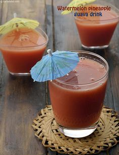 Watermelon Pineapple Guava Drink