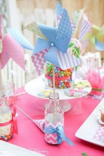 PINWHEELS & PARTY IDEAS Great News! I just added hundreds of Ready To Ship Pinwheels to my shop! So many fun and colorful summery patterns now available. Plus I have many more sets coming in the next week. Pinwheels are perfect at any event, celebration … Tea Party Birthday, Carnival Birthday, Birthday Ideas, Diy Party, Party Favors, Party Ideas, Gift Ideas, Paper Party Decorations, Pinwheel Decorations