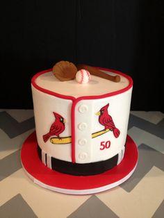 STL cardinals cake made by Teresa Lynn cakes LLC
