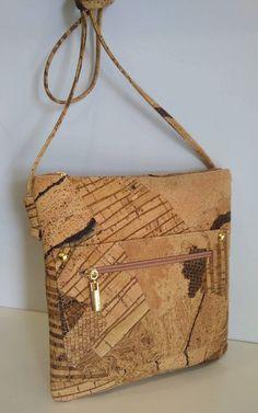 bd212e1cd4 Cork Bag Cork Handbag Vegan Leather Purse Cork Fabric Crossbody Shoulder  Clutch Strap Women Satchel