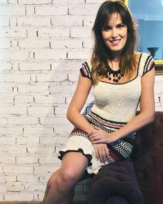 Vestido bolhas coloridas … lindo @biaperotti @shopachados #coachella #bohemian #bohochic #handmade #feitoamao #crochet #tricot #hechoamano