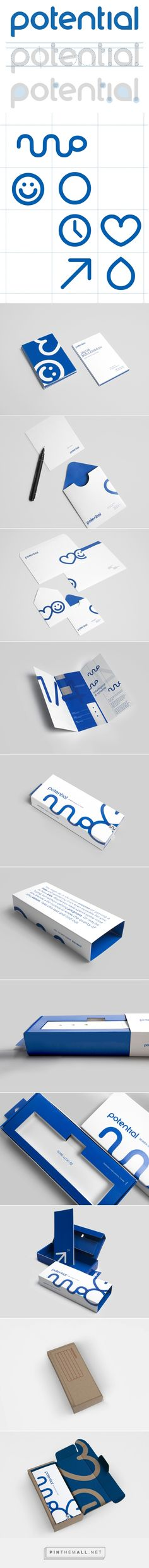 Potential identity packaging branding on Behance curated by Packaging Diva PD. Potential is a semen quality test, which will become available in retail stores, pharmacies and its own online store.