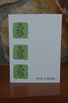 Just A Note Cards (Set of 5) by ArtByAdetta on Etsy