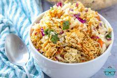 Ramen Noodle Flavors, Ramen Noodle Salad, Ramen Noodles, Noodle Bowls, Asian Ramen Salad, Asian Salads, Asian Foods, Shredded Brussel Sprout Salad, Spaghetti Salad