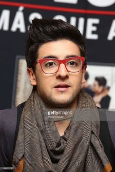 Singer of Italian opera pop Il Volo Piero Barone speaks with the media during a press conference to promote the new album of Il Volo 'Mas Que Amor' at Presidente Intercontinental hotel on May 13, 2013 in Mexico City, Mexico.