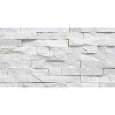 Urestone Stacked Stone 50 Antique White 24 In X 48 In