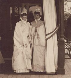 Dagmar of Denmark (Empress Marie of Russia) with her sister Alexandra, the queen of England