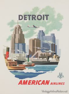 Fly American Airlines to Detroit