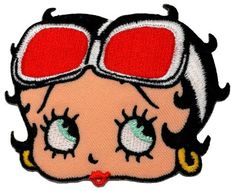 2.7' x 3.4'Betty Boop Animated Cartoon DIY Embroidered Sew Iron on Patch ** You can find out more details at the link of the image.