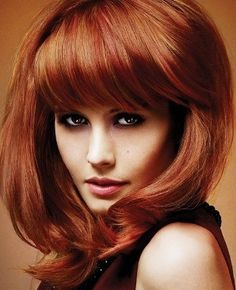 Red hair color - copper