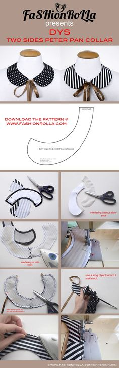 FaSHionRoLLa- Designer's fashion blog: DIY: two sides peter pan collar...