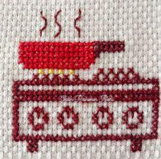 Cross Stitch, Fictional Characters, Dish Towels, Cross Stitch Embroidery, Dots, Art, Cross Stitch Kitchen, Crosses, Punto De Cruz