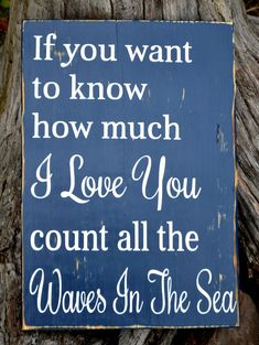 Beach Wooden Sign Nautical Nursery Decor Love Quote Wall Art Count The Waves In The Sea Sign Baby Room Gift Ideas