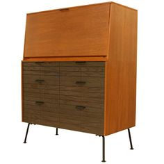 drop-front desk over drawers designed by Raymond Loewy for Mengel ...