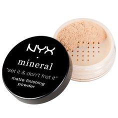 NYX Professional Makeup Mineral Finishing Powder - Mineral makeup setting powder for a radiant, flawless finish. Makeup Items, Makeup Tools, Makeup Brushes, Makeup Hacks, Original Makeup, Make Up Shop, Beauty Makeup, Face Makeup, Uk Makeup
